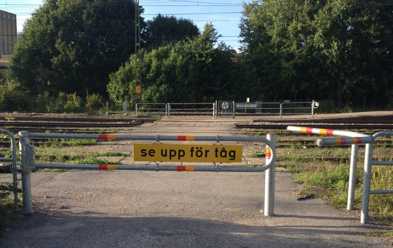 Se upp för tåg